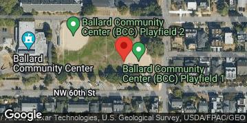 Locations for Spring Softcore Kickball at Ballard Playfield Sundays