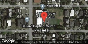 Locations for Fall Co-ed Kickball at Ballard Boys & Girls Club Sundays