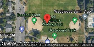 Locations for Summer Co-ed Softball at Dahl Playfield Tuesdays/Thursdays