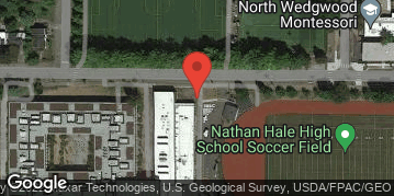 Locations for Winter Co-ed Flag Football at Nathan Hale HS Wednesdays