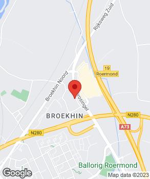 Locatie Auto Hensgens Roermond B.V. op kaart