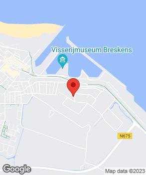 Locatie Varamo Breskens op kaart