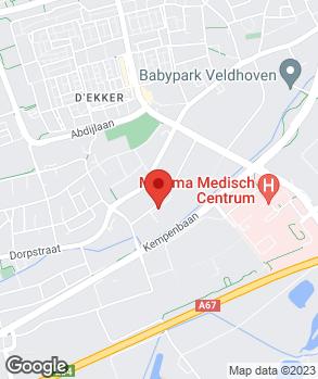 Locatie De Beemd Veldhoven op kaart