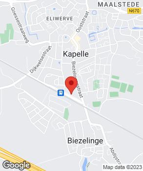 Locatie Van de Velde Auto's B.V. op kaart