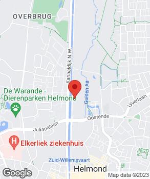 Locatie Gebrs. de Kinderen Helmond B.V. op kaart