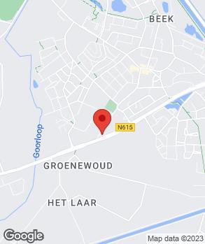 Locatie Crommenacker Auto's Beek en Donk op kaart
