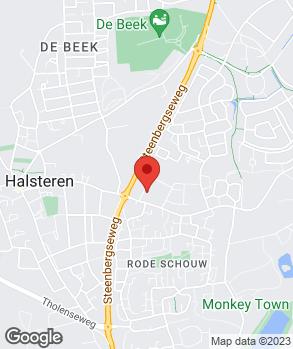 Locatie Vaartland.nl Halsteren op kaart