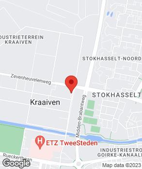 Locatie Noordhoek Tilburg op kaart