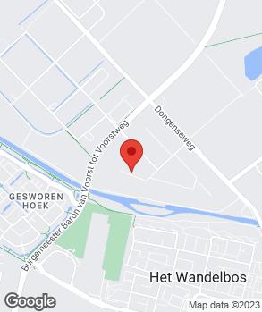 Locatie De Sleutelgarage Tilburg op kaart