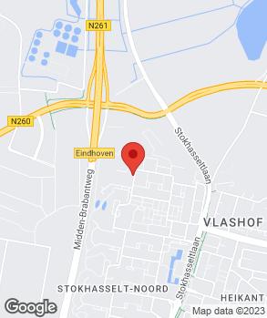 Locatie AZR Occassions Tilburg B.V. op kaart