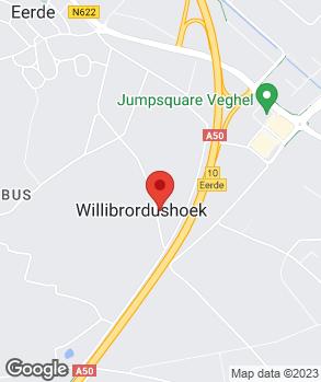 Locatie A.J. van Hooft op kaart