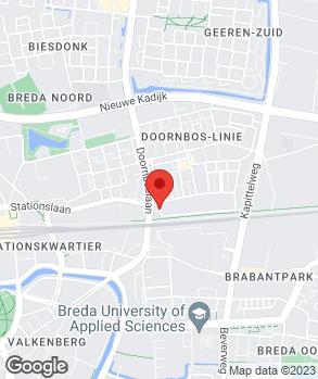 Locatie Betting Banden Breda op kaart