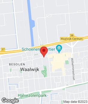 Locatie M.C. Vos Auto's B.V. op kaart