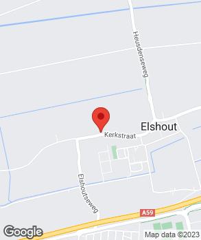 Locatie Garage Pullens Elshout op kaart