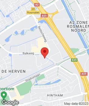 Locatie Auto HerVen Den Bosch B.V. op kaart