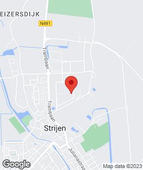 Locatie Bosman en Kalis Strijen op kaart
