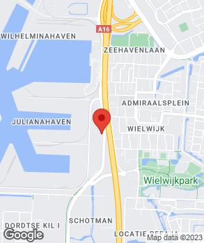 Locatie Indumij Automotive Dordrecht op kaart