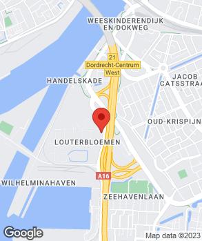 Locatie Louwman Dordrecht B.V. op kaart