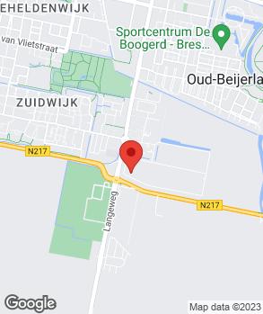 Locatie Blauwendaal Oud-Beijerland op kaart