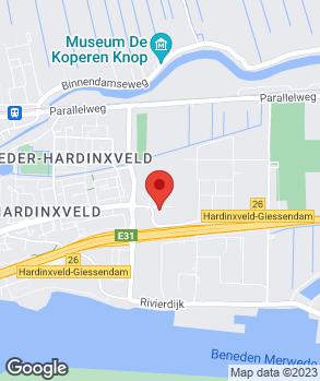 Locatie Auto Indumij Hardinxveld-Giessendam op kaart