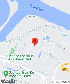 Locatie Auto Van der Burgh-Oud-Beijerland B.V. op kaart