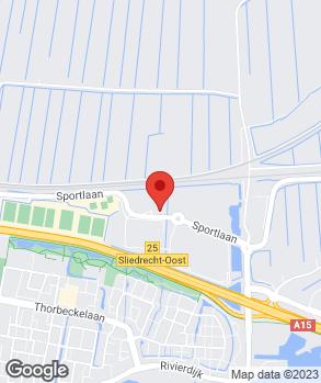 Locatie Autobedrijf Mulder Sliedrecht op kaart