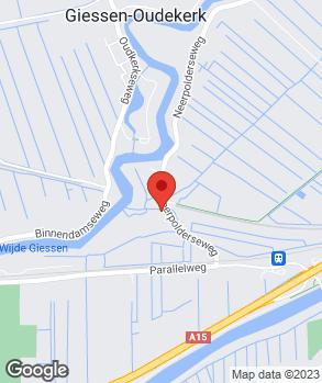 Locatie V.O.F. De Rie Bandenservice op kaart