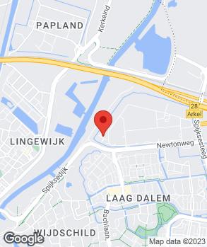 Locatie Van Kerkhof & Visscher Gorinchem   VKV Renault Gorinchem op kaart