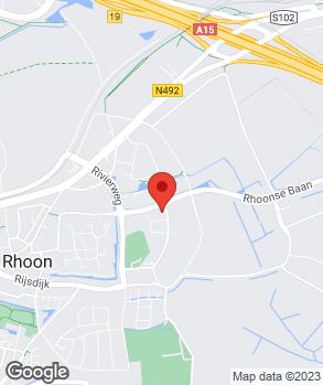 Locatie Motorhuis Rhoon op kaart