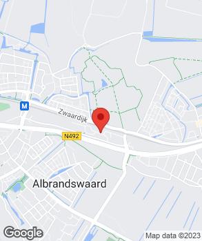 Locatie Garage- en Schadeherstelbedrijf P. de Lange op kaart