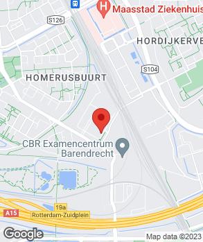 Locatie Louwman Rotterdam op kaart