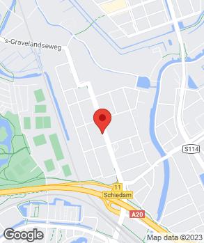 Locatie Autohaag Zeeuw Schiedam op kaart