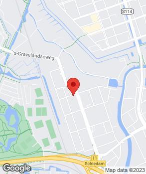 Locatie M.M.S. Garage Schiedam op kaart