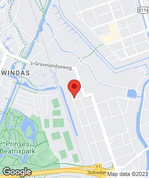 Locatie Garage Van Dalen Schiedam op kaart