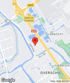 Locatie P.J. van Koppen op kaart