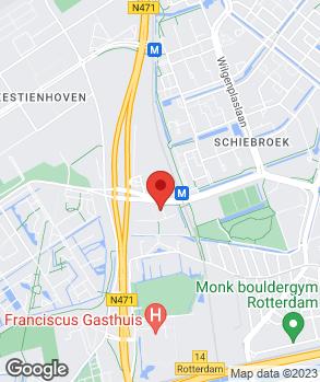 Locatie Porsche Service Centrum Rotterdam Airport op kaart