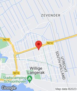 Locatie Van Schaik Schoonhoven B.V. op kaart