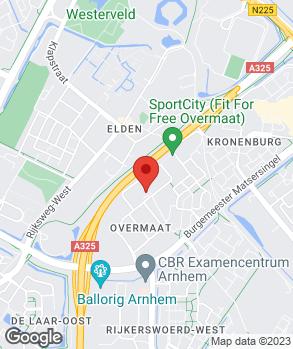 Locatie Automobielbedrijf Van Hunnik Arnhem B.V. op kaart