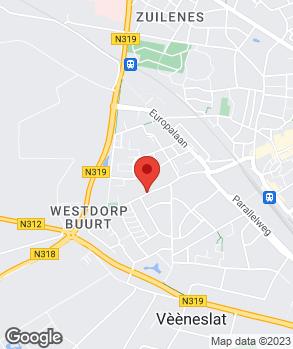 Locatie Automobielbedrijf Houwers op kaart