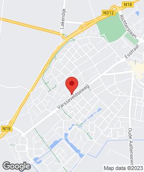 Locatie Autobedrijf te Brake op kaart