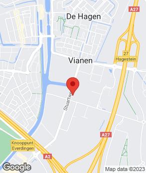 Locatie Automobielbedrijf Kooijman Vianen B.V. op kaart