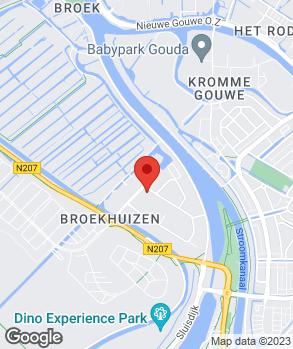 Locatie Van Bunningen Gouda op kaart
