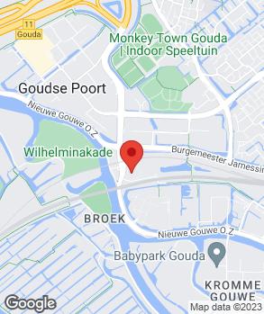 Locatie Kruisinga-Gouda Auto-, Carav. en Garagebedr. op kaart