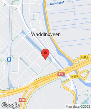 Locatie Schadenet van Straaten Waddinxveen op kaart