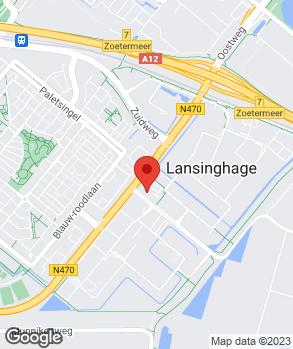 Locatie Autohaag Zeeuw Zoetermeer Lansinghage op kaart