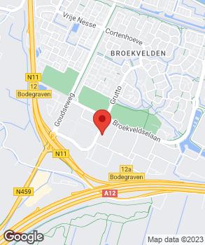 Locatie Van Bunningen Bodegraven op kaart