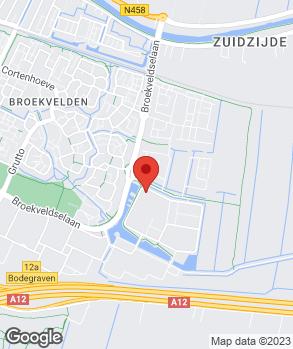 Locatie autocentrum Van Vliet Bodegraven B.V. op kaart