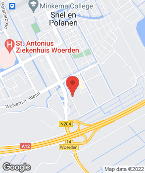 Locatie autocentrum van Vliet Woerden op kaart