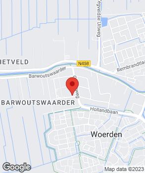 Locatie Auto R.A.S. Woerden B.V. op kaart
