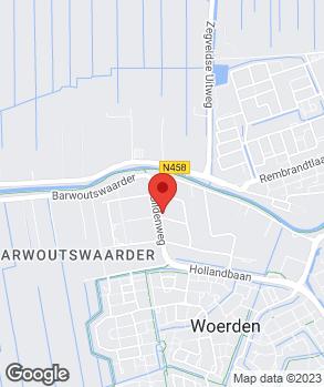 Locatie Ford Utrecht Woerden op kaart